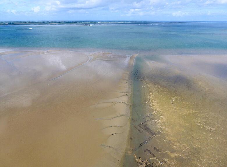 Wattenmeer mit Siedlungsbefunden