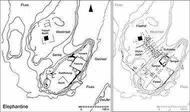 Elephanitne: Bauzustände Festungsstadt