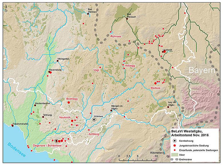 Karte Fundorte