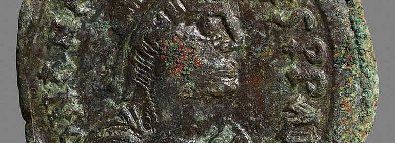 Münze aus der Zeit von Kaiser Anastasius I.