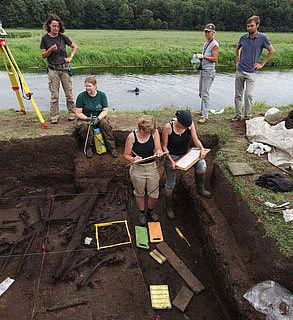 Ausgrabungsarbeiten Tollensetal