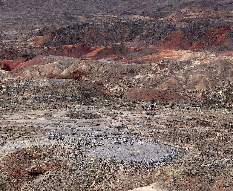 Blick auf die Begräbnisstätte Lothagam North, Kenia