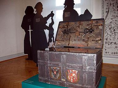 Figuren »erzählen« zur Stadtgeschichte von Weingarten im Stadtmuseum (Foto: Stadtmuseum Weingarten)