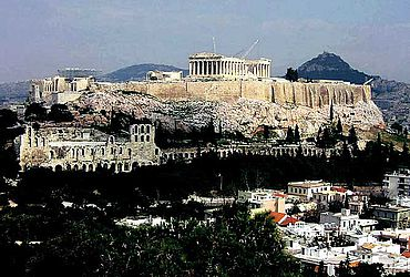 Die Akropolis von Athen. (Internet, GNU Free Documentation License)