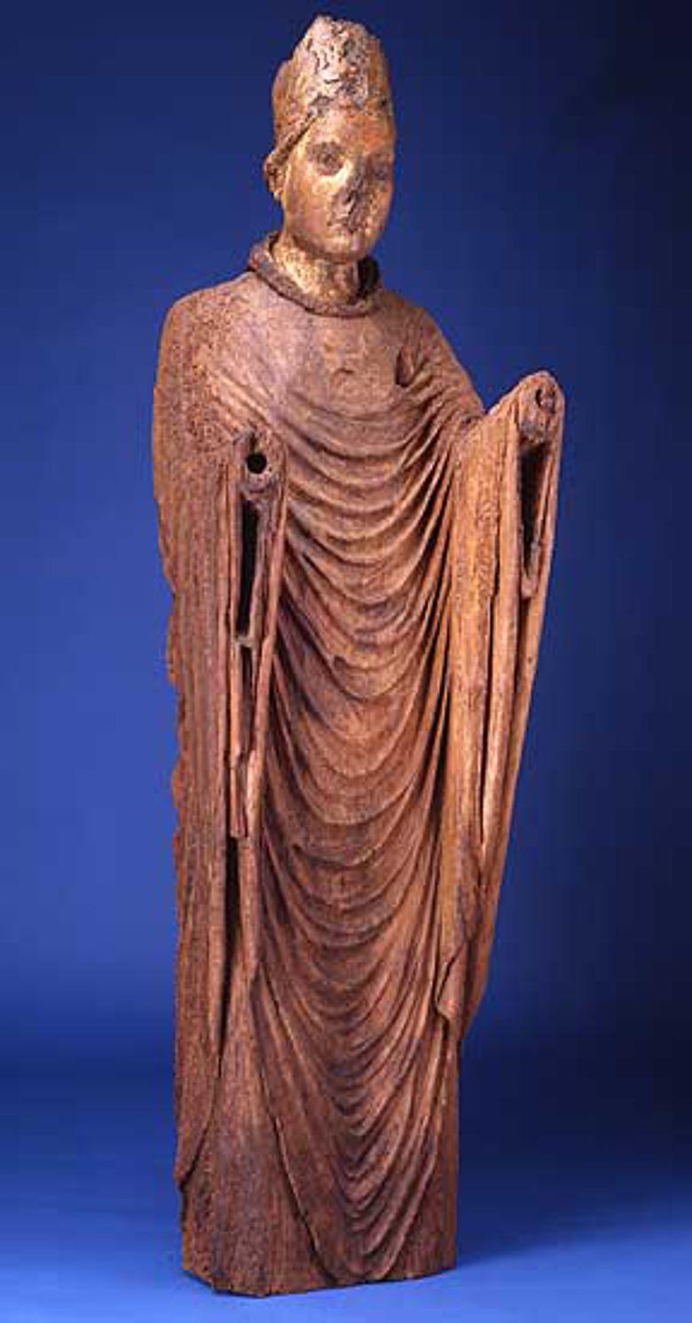 Holzstatue Engelberts, die zu Ehren des Bischofs nach seinem Tod im Kloster Gevelsberg stand. (© Märkisches Museum Witten)