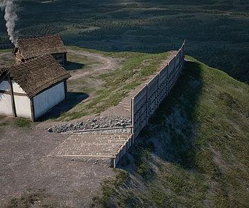 Rekonstruktion von Wall C auf dem Rosenstein