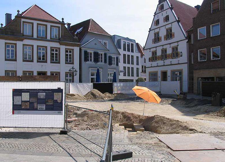 Ausgrabung auf dem Marktplatz in Rheine