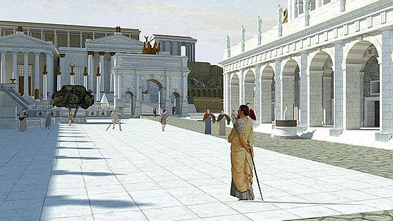 Blick über das Forum nach Westen