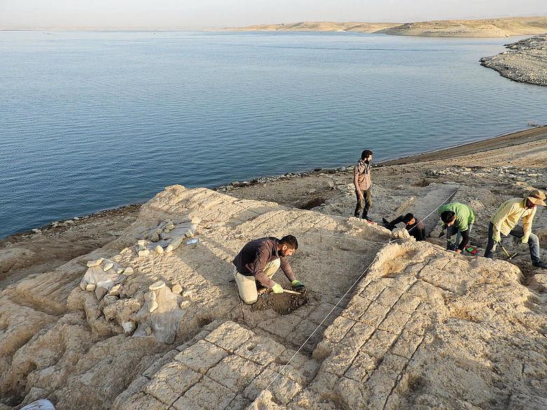 Ausgrabung am Mossul-Stausee