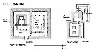 Heiligtum der Göttin Satet, Elephantine (Grundriss)