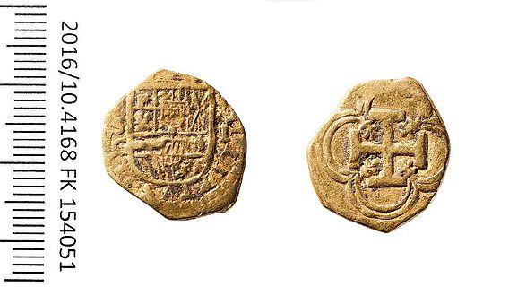 Goldener Escudo aus der Regierungszeit von Philipp III.