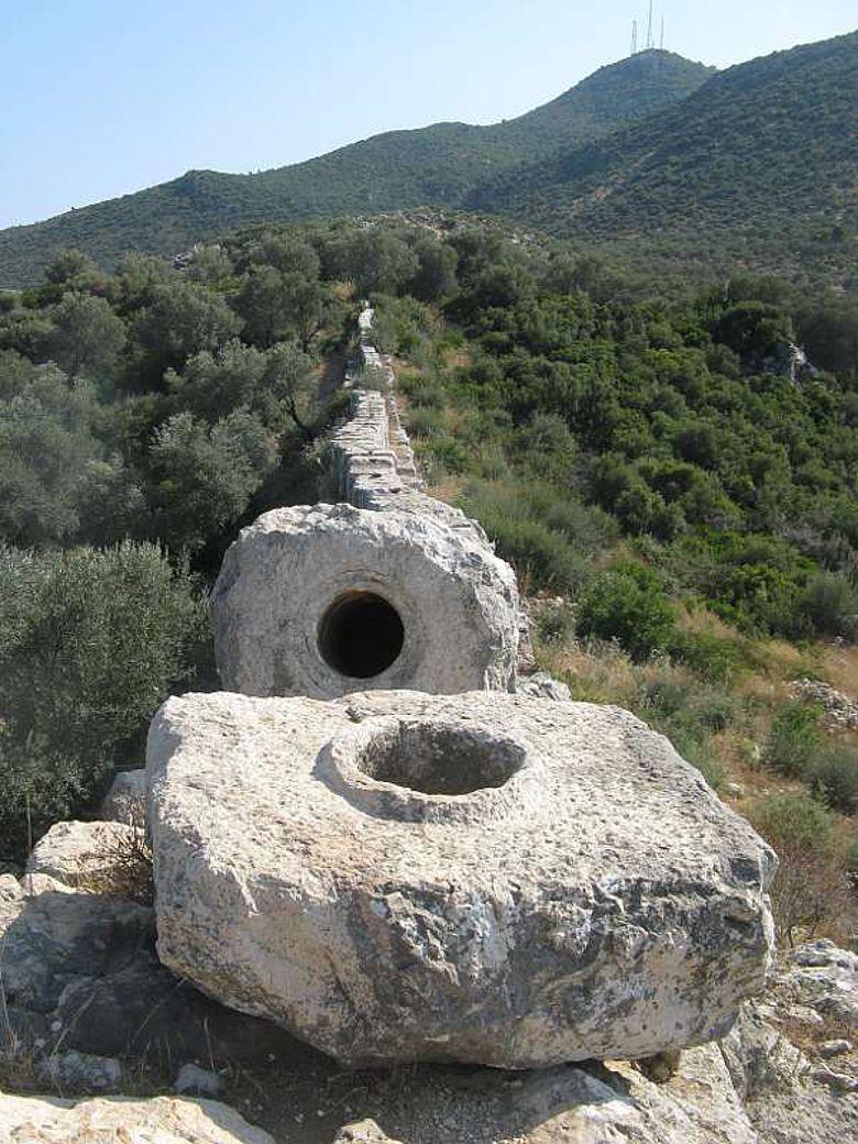 Elemente der römischen Siphon-Wasserleitung bei Patara