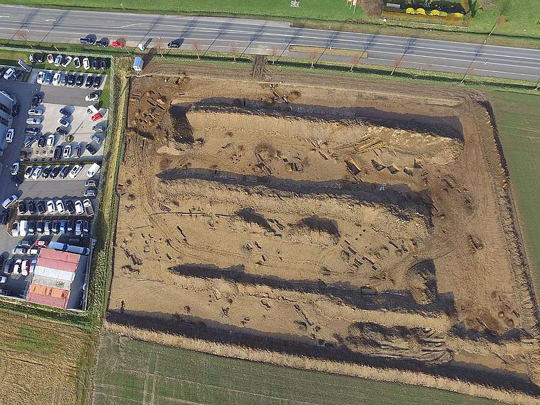 Ausgrabungsstelle an der Soester Straße