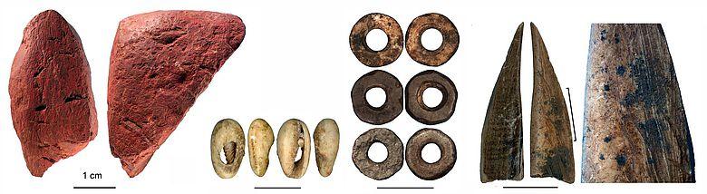 Artefakte aus der Panga ya Saidi Höhle