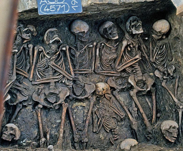 Spätmittelalterliches Massengrab