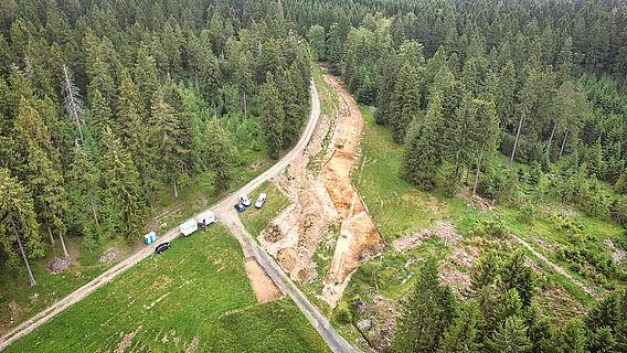 Ausgrabung im Luftbild