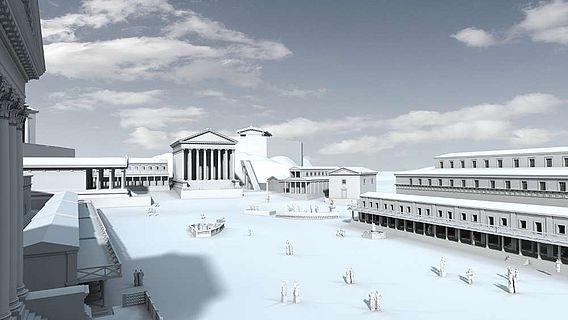 Das Forum Romanum um 100 v. Chr.