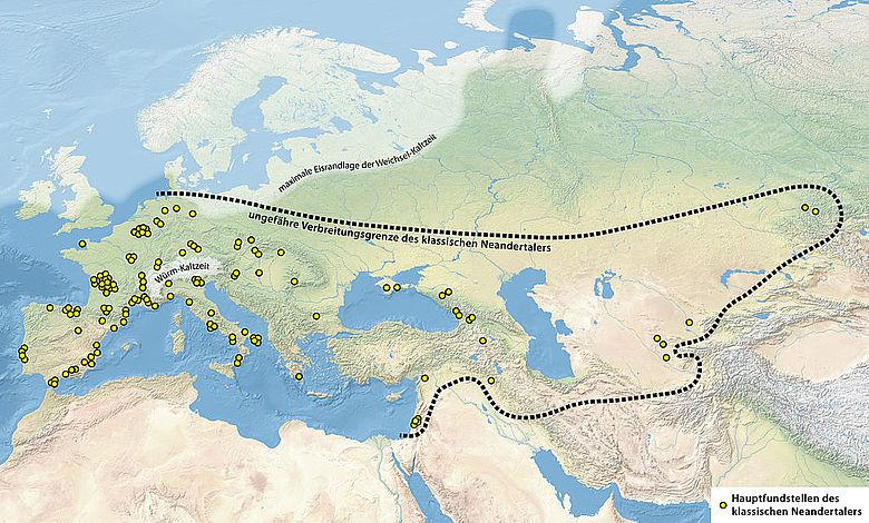 Verbreitung Neanderthaler