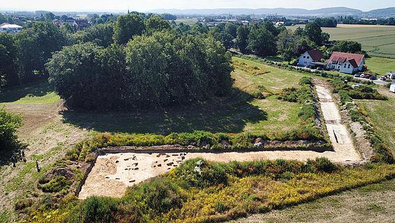 Ausgrabungsareal in Hille