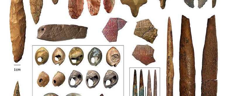 Artefakte der Mittleren Steinzeit aus Afrika