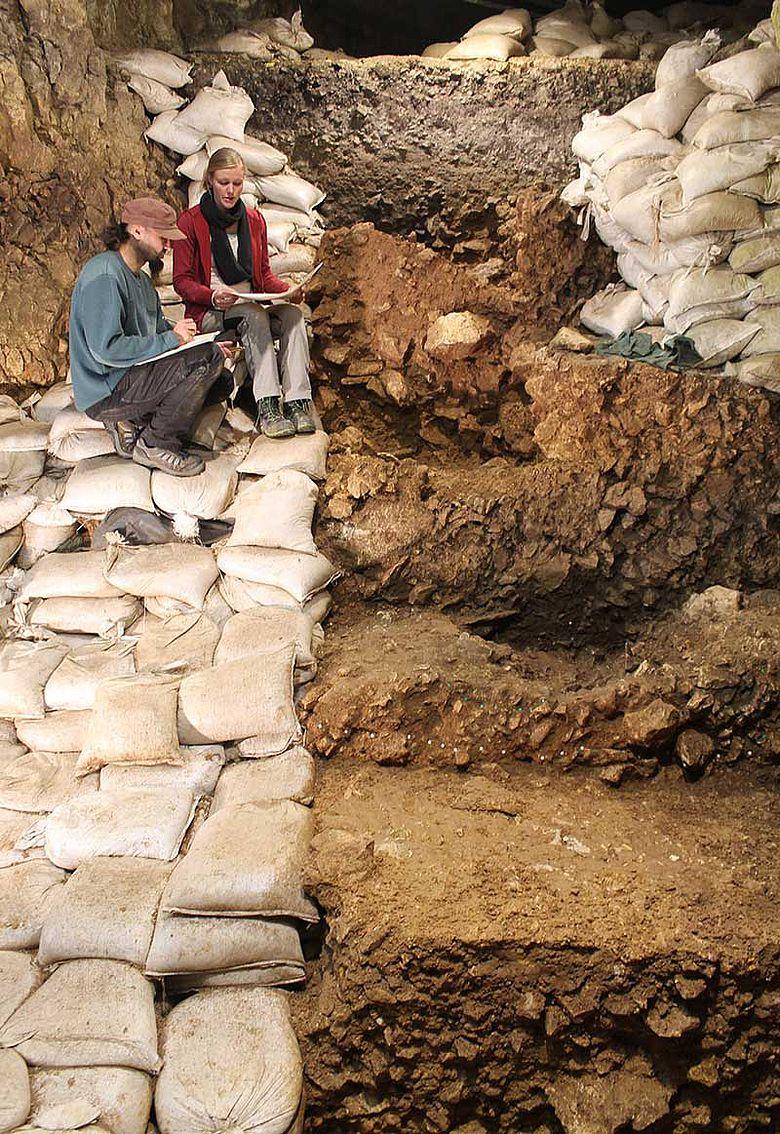 Ausgrabung im Hohle Fels 2017
