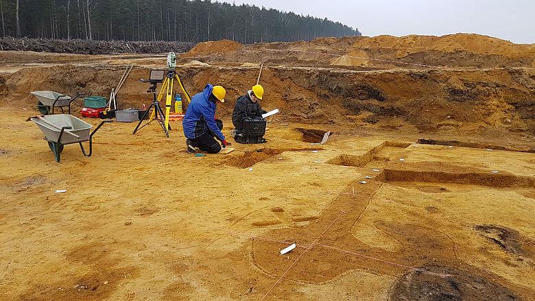 Ausgrabung im Tagebau Nochten