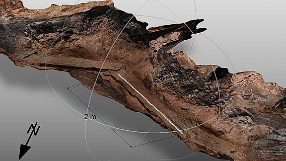 3D-Modell eines Teils des Johannesstollens