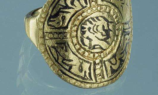 Goldfingerring des späten 8. bis 9. Jahrhunderts