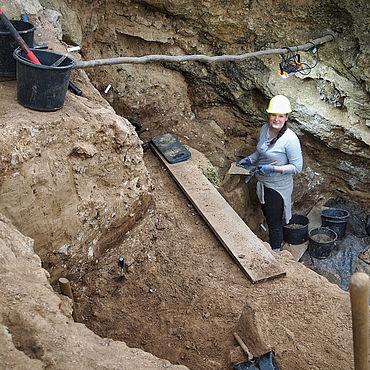 Ausgrabung in der Einhornhöhle