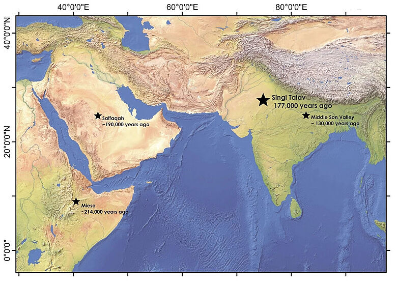 Karte: Lage des Fundorts Singi Talav