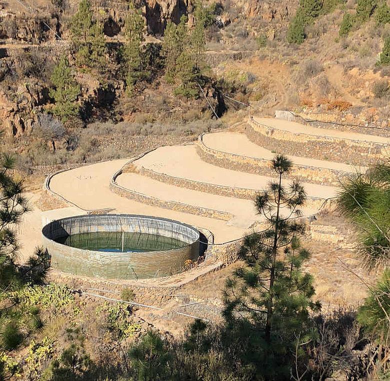 Regenwassersammelanlage auf Teneriffa