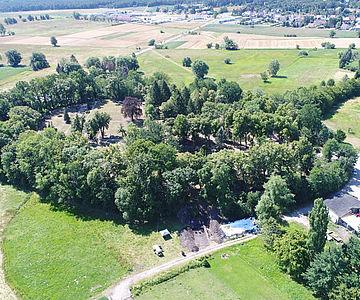 Burgwall Kemberg, Luftbild