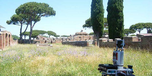 Roboter Irma 3D im alten Rom © Jacobs University