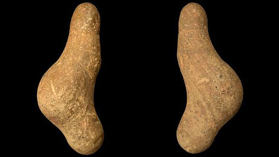 Die Frauenfigur vom Typ Gönnersdorf wurde in Waldstetten gefunden und ist ca. 15.000 Jahre alt