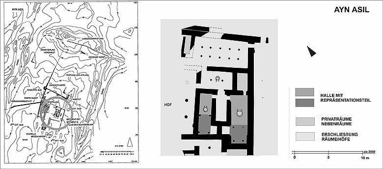 Palastanlage des späten Alten Reiches in Ayn Asil