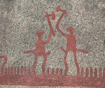 Felsbild Kampf in der Bronzezeit