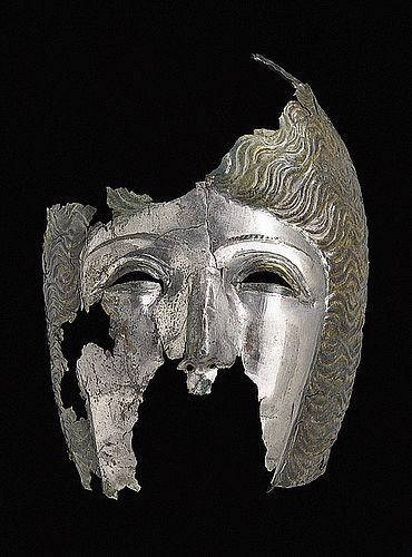 römischer Gesichtshelm