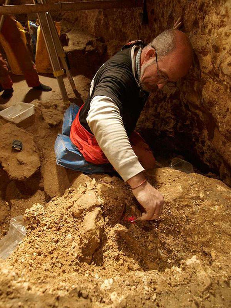 Ausgrabungsarbeiten in der Höhle Sima de los Huesos