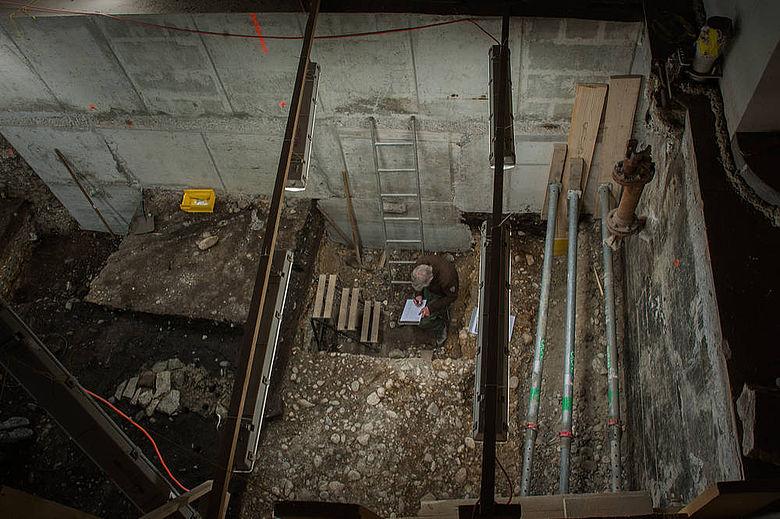 Ausgrabung im Spiegelhof (Basel)