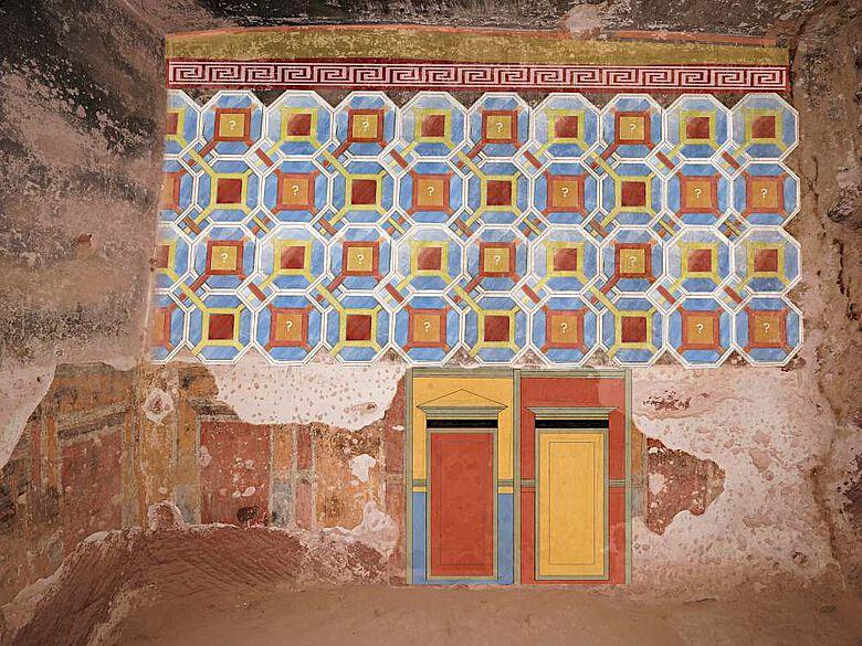Rekonstruktion der Wand- und Deckenmalerei in der ausgemalten Wohnhöhle von Wadi as-Siyyagh