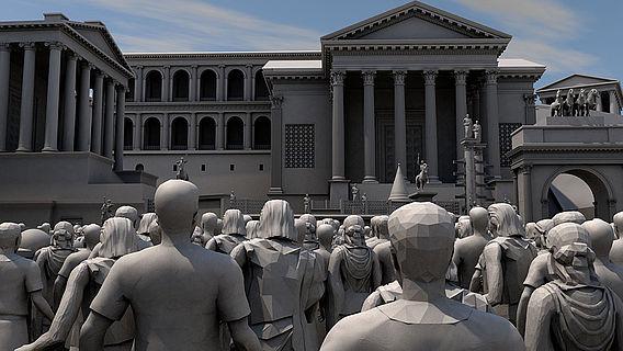 Raumakustische Simulation Forum Romanum
