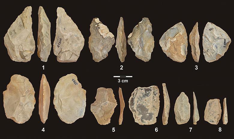 Mittelpaläolithische Steinwerkzeuge aus der Stajnia-Höhle