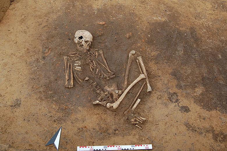 Neolithische Bestattung
