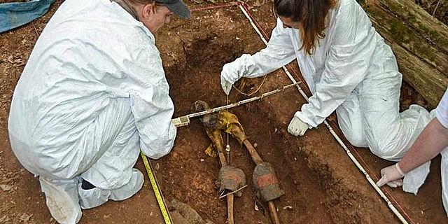 Forensische Ausgrabung auf der Body Farm Knoxville