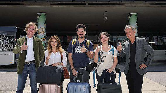 Ankunft der türkischen Student/innen in Wien