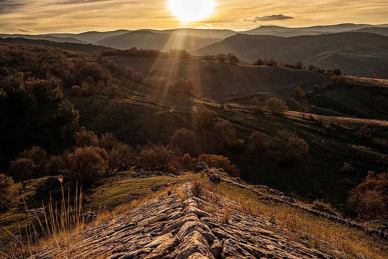 Sonnenuntergang zur Wintersonnenwende