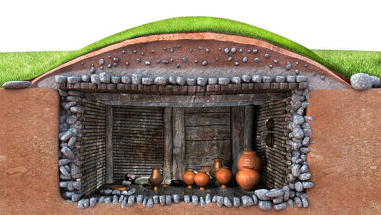 Rekonstruktion etruskisches Grab