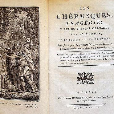 Grégoire Bauvin, Titelbild von Les Chérusques, 1773 (Lippische Landesbibliothek)