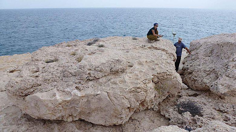 Der größte dieser Gesteinsbrocken wiegt rund 100 Tonnen