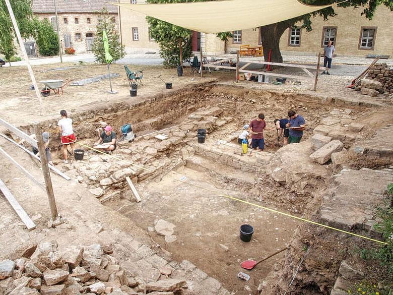 Ausgrabung im Kloster Memleben